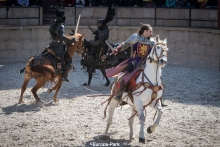 A medieval arena battle at Europa Park