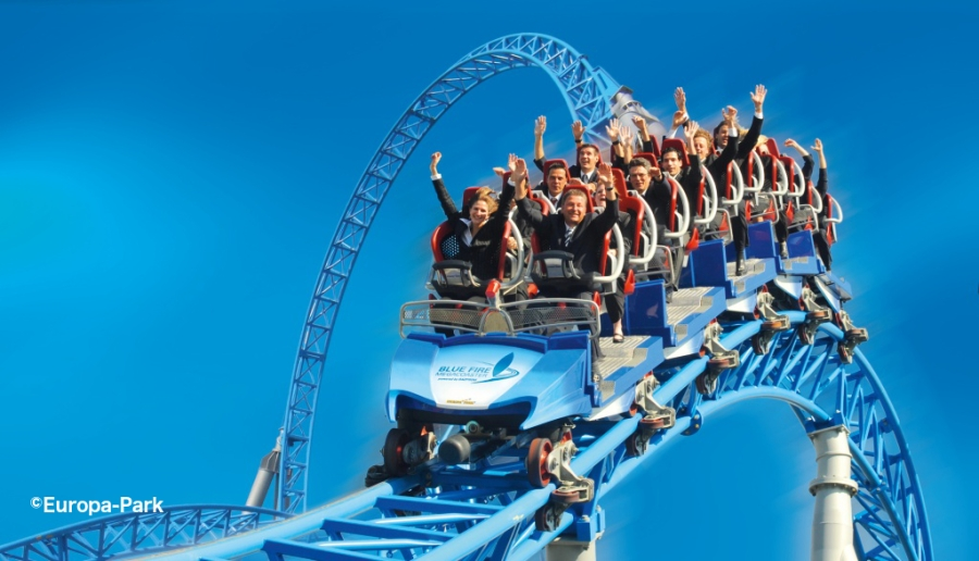 Blue Fire roller coaster at Europa Park