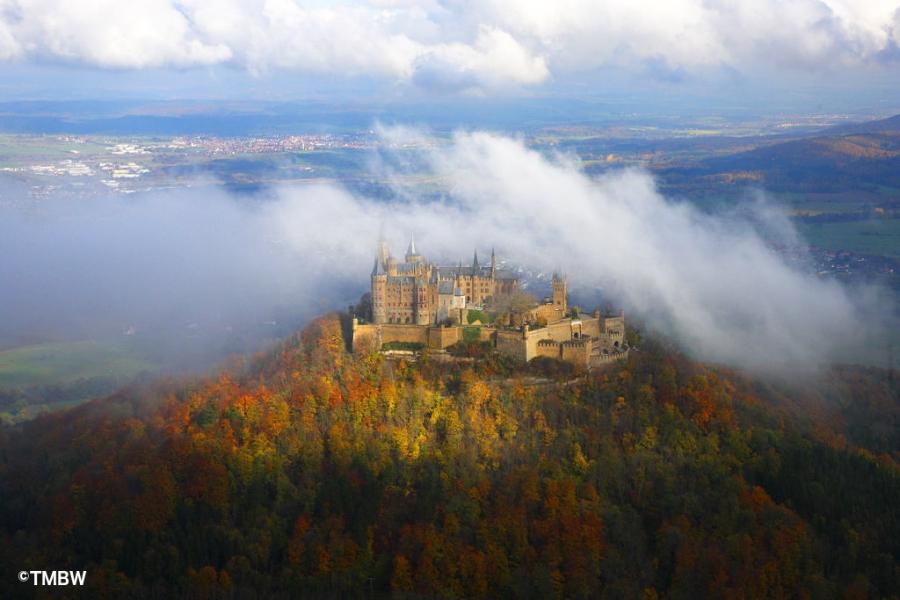 Hohenzollern Castle in summer