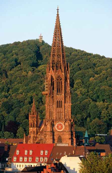 The gothic-style Freiburg Cathedral