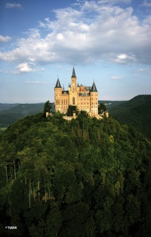 Hohenzollern Castle in summer