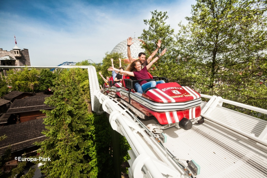 Swiss Bobsled roller coaster at Europa Park