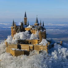 Hohenzollern Castle in winter